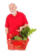 Handsome Senior Grocery Shopper — Stock Photo