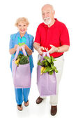 Healthy Seniors Eat Right — ストック写真