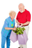 Healthy Seniors Recycle — Stockfoto