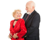 Romantic Senior Dancers — Stock Photo