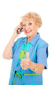 Senior Cellphone User - Good Reception — Stock Photo