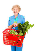 Senior Lady Grocery Shopping — Stock fotografie