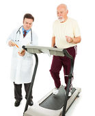 Senior Man - Fitness Test — Stock Photo