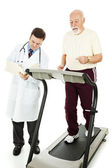 Senior Man - Monitored Exercise — Stock Photo