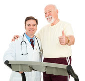 Senior Man Heart Healthy — Stock Photo