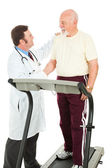 Senior Man Passes Fitness Test — Stock Photo