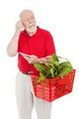 Senior Shopper - Forgetful — Stock Photo