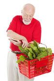 Senior shopper kontroller korg — Stockfoto