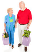 Senior Shoppers - Renewable Resources — Stock Photo