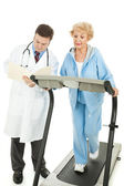 Senior Woman - Monitored Exercise — Stock Photo