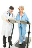 Senior Woman - Monitored Exercise — Stock Photo
