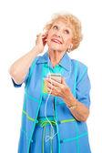 Senior Woman Enjoying Tunes — Stock Photo