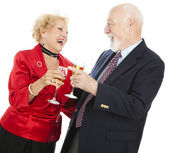 Seniors Celebrating — Stock Photo