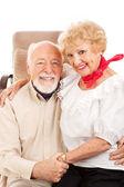 Land westerse senioren — Stockfoto