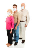 Epidemic - Wearing Face Masks — Stock Photo