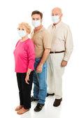 Epidemic - Wearing Face Masks — Stock Photo