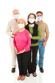 Epidemic - Worried Family — Stock Photo