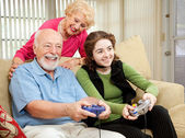 Family Time with Grandparents — Stock Photo