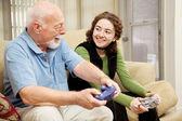 Grandfather Granddaughter Bonding — Stock Photo