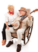 Serenading His Sweetie — Stock Photo