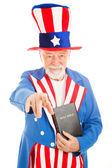 Uncle Sam - Church and State — Stock Photo