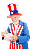 Uncle Sam - US Savings Plan — Stock Photo