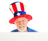 Uncle Sam Head - Happy — Stock Photo