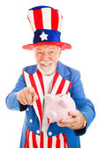 Uncle Sam Wants Your Cash — Stock Photo