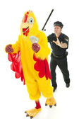 Chicken Man on the Lam — Stock Photo