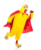 Super Chicken Takes Off — Stock Photo