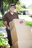 Delivery Man or Mover Outdoors — Stockfoto