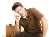 Exhausted Delivery Guy — Foto Stock