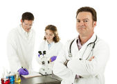 Medical Doctor in Laboratory — Stock Photo