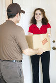Receiving Package — Stock Photo