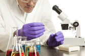Scientist Preparing Slide — Stock Photo