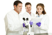 Scientists Read Test Results — Stock Photo