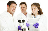 Scientists - Strange Test Results — Stock Photo