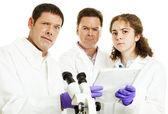 Team of Scientists Perplexed — Stock Photo