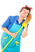 Cleaning Lady - Daydreaming — Stock Photo
