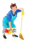 Cleaning Lady - Exhausted — Stock Photo