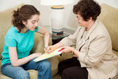 Counseling - Teen Signs Agreement — Stock Photo