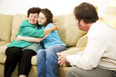 Family Conflict Resolution — Stock Photo