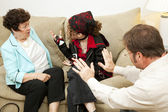 Family Counseling - Blame Mom — Stock Photo