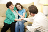 Family Therapy - Positive Outcome — Stock Photo
