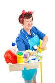 Happy Housekeeper — Stock Photo