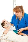 Friendly Nurse and Child — Stock Photo