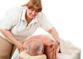Massage - Gentle Touch — Stock Photo