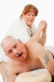 Masaje doloroso — Foto de Stock