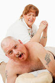 Painful Massage — Stockfoto