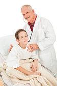 Pediatrician Examines Little Boy — Stock Photo